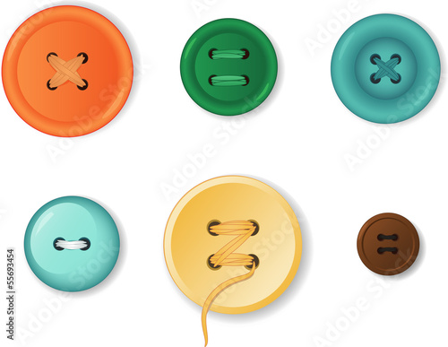 Fotografía  Set of realistic clothing buttons