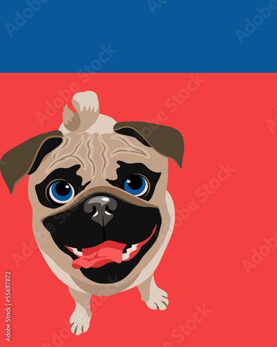 smieszna-ilustracja-mopsa-pies
