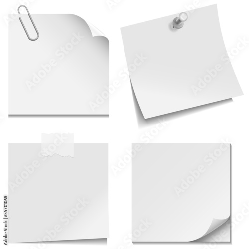 White Paper Notes Wall mural
