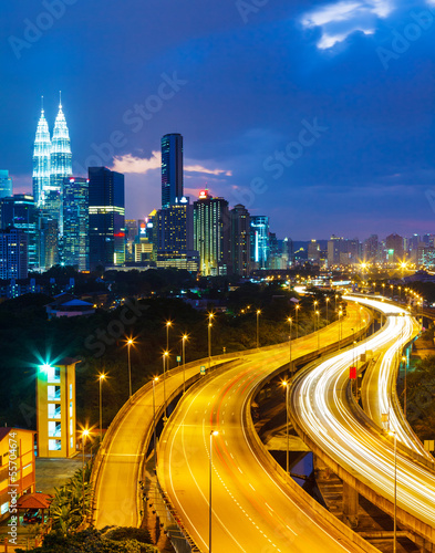Kuala Lumpur skyline at night Poster