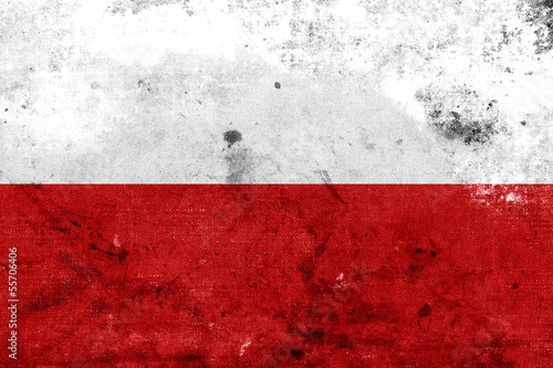 Obraz Grunge Poland flag kopia - fototapety do salonu