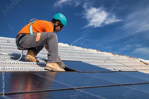 install solar panels Slika na platnu
