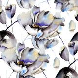 Bezszwowi wzory z Pięknymi kwiatami - 55717832