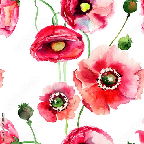stylizowane-kwiaty-maku-ilustracji