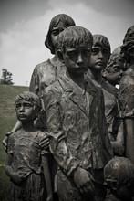 Children Sculpture At Lidice Memorial