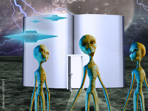 Photo Aliens Story Book