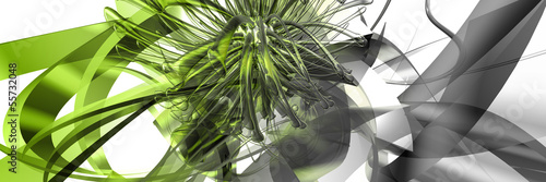 Fotografie, Obraz  green abstract background