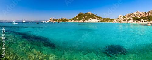 Foto-Kissen - Clear turquoise water of Cala Corsara in Sardinia