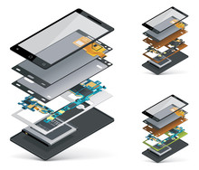 Vector Isometric Smartphone Cu...