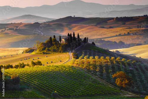 Toscana, Paesaggio. Italia Fototapet
