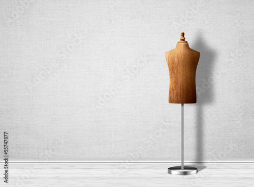 Empty mannequin torso template. Wallpaper Mural