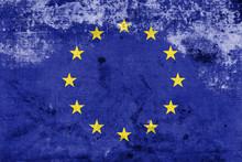 Grunge European Union Flag, EU...