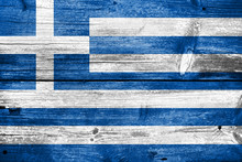 Greece, Greek Flag Painted On ...
