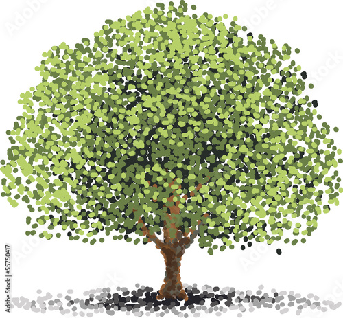Baum Gepunktet Gemalt Buy This Stock Vector And Explore Similar