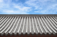 Traditional Chinese Roof With Sky