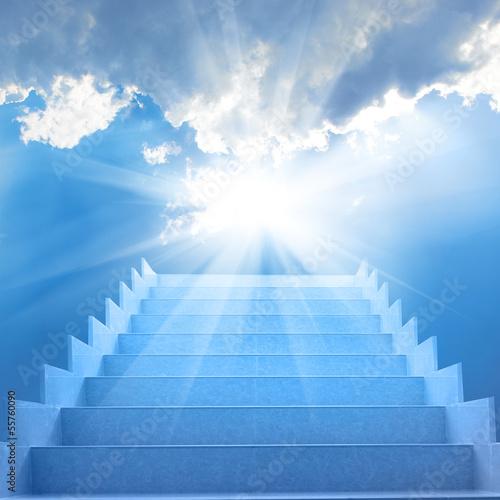 Valokuvatapetti Stairs in the sky