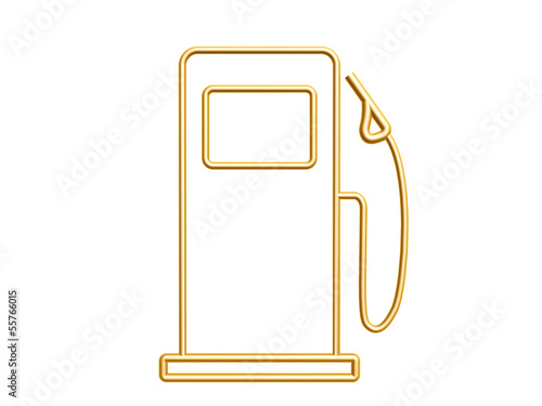 Golden Gas Station Symbol Buy This Stock Illustration And Explore