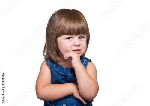 Fotografia, Obraz  bambina che pensa