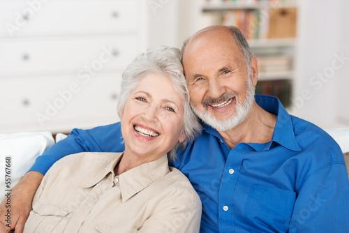 Fotografia, Obraz  glückliches älteres paar zu hause