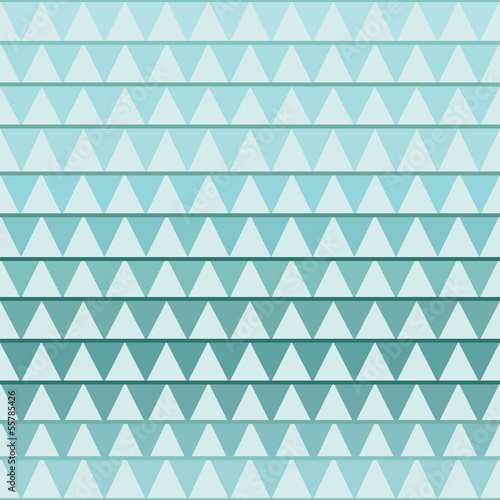 Deurstickers ZigZag Seamless geometric pattern with turquoise triangle
