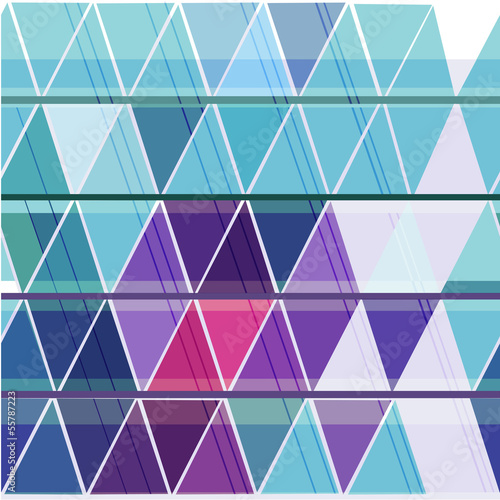 Deurstickers ZigZag Seamless geometric pattern with colorful triangle