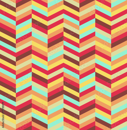 Tuinposter ZigZag Abstract colorful seamless pattern background. EPS10 file.