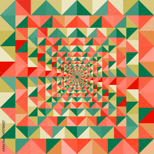 Spoed Foto op Canvas ZigZag Colorful visual effect seamless pattern background. EPS10 file.