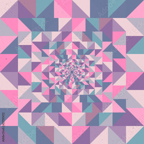 Cadres-photo bureau ZigZag Vintage autumn triangles seamless pattern background. EPS10 file