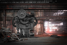 Old, Metallurgical Firm Waiting For A Demolition