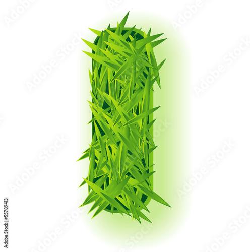 Valokuva  Vector grass letter.