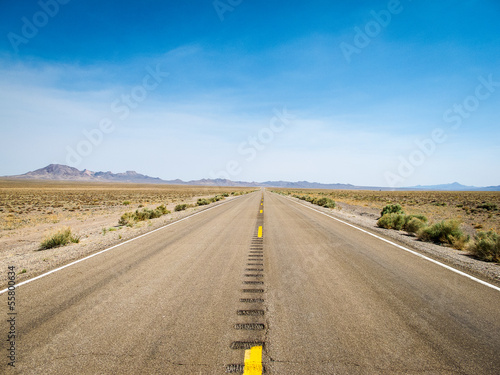 Wall Murals Route 66 Highway durch die Wüste