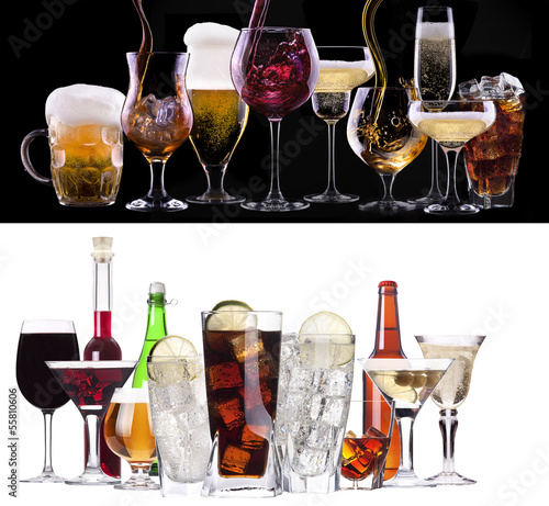 Canvas Prints Bar different images of alcohol