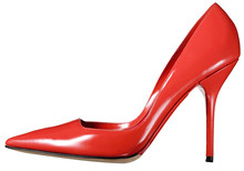 Single Red Leather Ladies Cour...