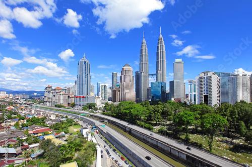 Kuala Lumpur skyline Canvas Print