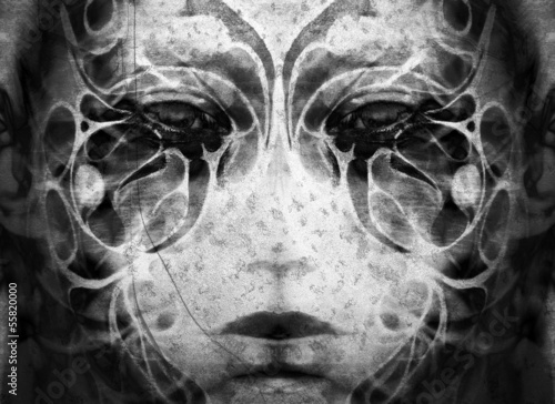 tattoo woman face