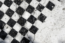 Empty Old Wooden Chess Board