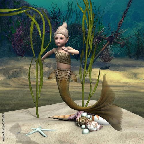 Wall Murals Mermaid Little Mermaid