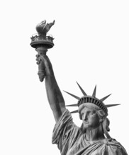 Statue Of Liberty, Face And Torch - Symbol Of New York, Isolated