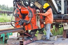 Railway Workers Were Welding W...