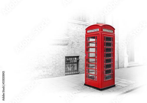 Fotografie, Obraz  Cabine téléphonique Londres