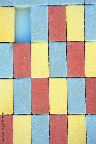 Poster Antwerp Colorful building blocks. Ready for your design, letters, symbol