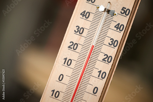 Closeup photo of household alcohol thermometer