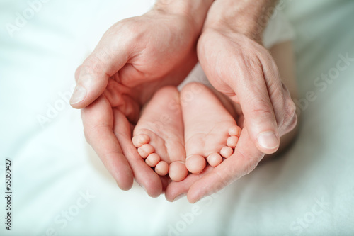 Parental care - sweet baby, foot macro