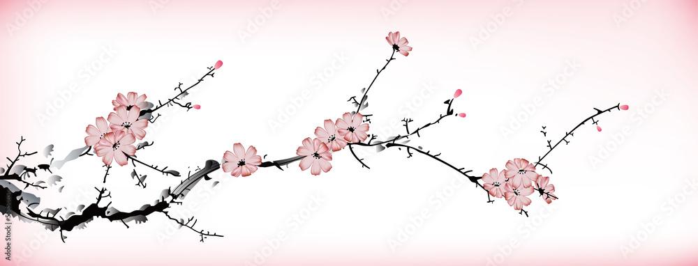 Fototapeta blossom painting