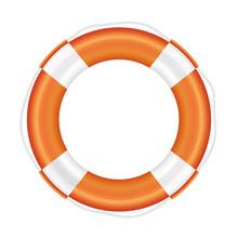 Orange Lifebuoy With White Str...