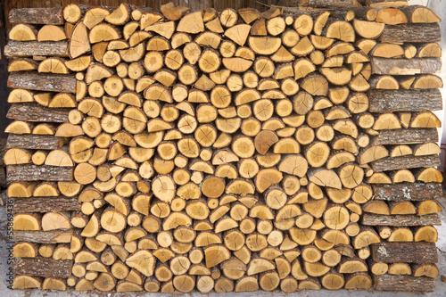Chopped wood Pile