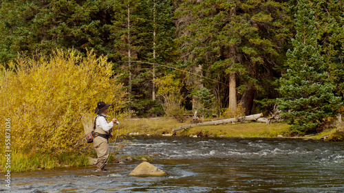 Wall mural - Fly Fisherman