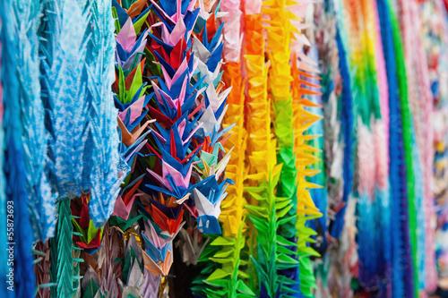 Foto op Plexiglas Paradijsvogel Close up of colorful origami offerings