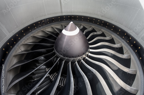 Fotografie, Obraz  Jet engine close up