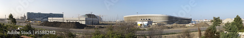 Spoed Foto op Canvas Stadion Panorama of construction of the Olympic Park in Sochi. Russia.